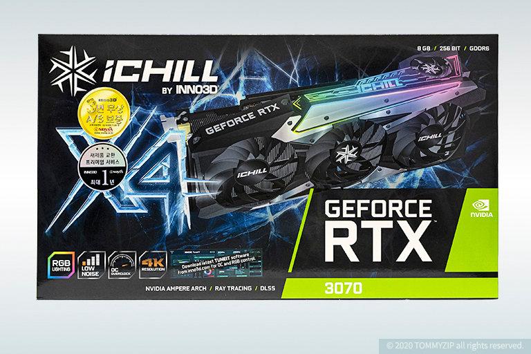 rtx 3070 inno3d ichill x4 box