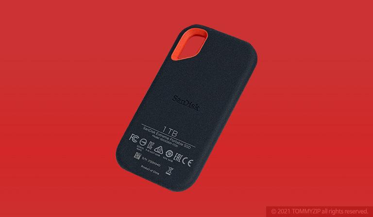 샌디스크 익스트림 포터블 SSD V2 E61 1TB 후면