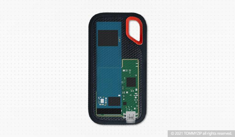 샌디스크 익스트림 포터블 SSD V2 E61 1TB 내부